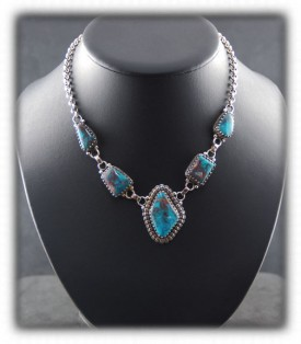 A Bisbee Turquoise Necklace from our Silver Jewelry Store