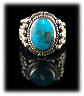 Western Silver Ring - Bisbee Turquoise