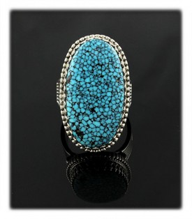 Black web Blue Spiderweb Turquoise from the Kingman mine