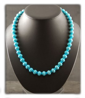 Blue Gem Turquoise Bead Necklace