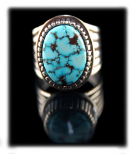 Blue Turquoise Navajo Ring