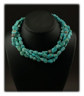 Blue Nugget Turquoise Necklace