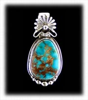 Blue Royston Turquoise Pendant