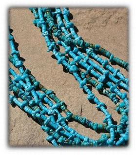 Multi Strand Blue Beaded Necklace by Nattarika Hartman