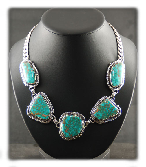 Blue Turquoise Jewelry Necklace