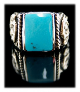 Blue Diamond Turquoise Ring