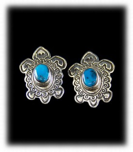 Blue Stud Turquoise Earrings