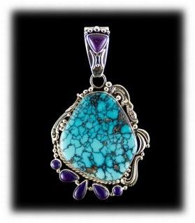 Multi Stone Blue Wind Gem Turquoise Pendant