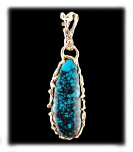 Blue Wind Turquoise Gold Jewelry
