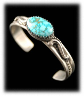 water web Kingman Turquoise bracelet for women