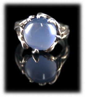 Blue Chalcedony and Sterling Silver Ring