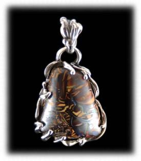 Boulder Opal Pendant - Gemstone Jewelry