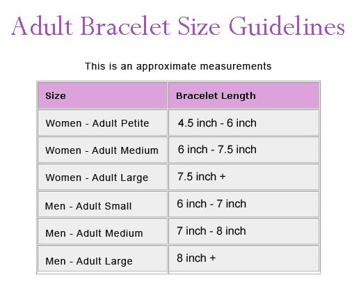 Bangle Bracelet Sizes Bangle Bracelet Size Chart