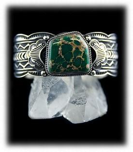 Men's Turquoise Silver Bracelet