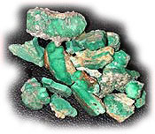 Here is an example of Broken Arrow Green Turquoise from Nevada