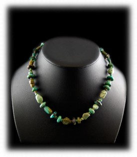 Brown and Green Tortoise Turquoise Beads