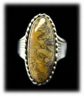 Brown Turquoise Womens Ring