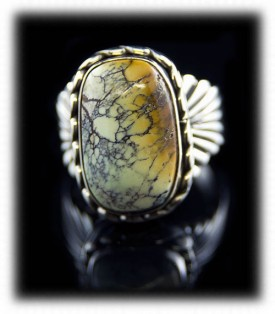 Brown Tortoise Turquoise Mens Ring