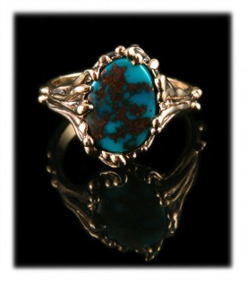 Candelaria Turquoise in Gold