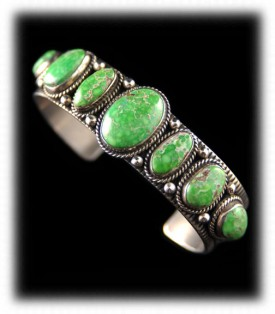 Lime Green Carico Lake Turquoise Bracelet by M. Garcia