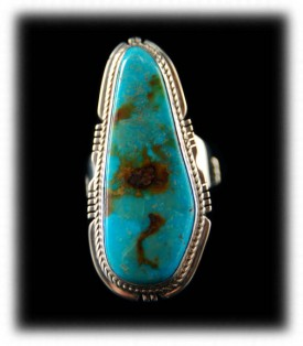 Blue Cerrillos Turquoise Ring