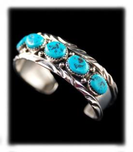 Child's Navajo Turquoise Bracelets