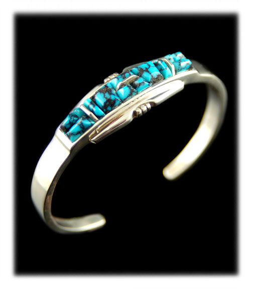 Chinese Spiderweb Turquoise bracelet