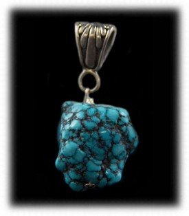 Chunky Turquoise Pendant