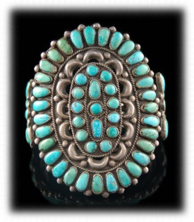 Vintage Native American Handmade Turquoise Jewelry