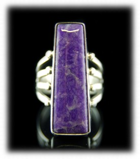 Bezel Set Sugilite Ring