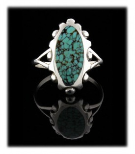 Cloud Mountain Chinese Turquoise  Ring