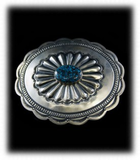 Concho Turquoise Belt Buckle