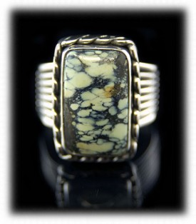 Mens Tortoise Turquoise Ring