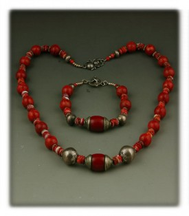 Coral Bead Necklace by Nattarika Hartman