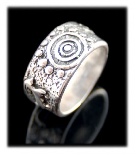 Silver band ring featured in Cowboys and Indians Magazine