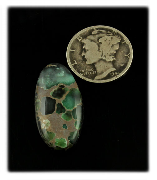 Damele Green Turquoise Cabochon