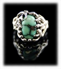 Another Damale Lime Green Turquoise Ring