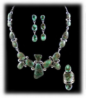 American Indian Necklace with Damele Turquoise