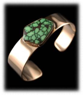 Damele Gold Turquoise Bracelet