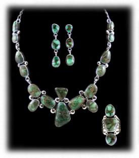 Demale Turquoise Pendant Necklace - Nevada Turquoise Pendant