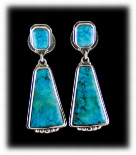 Blue Dangle Turquoise Earrings