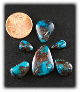 Rich Blue Bisbee Turquoise Cabochons
