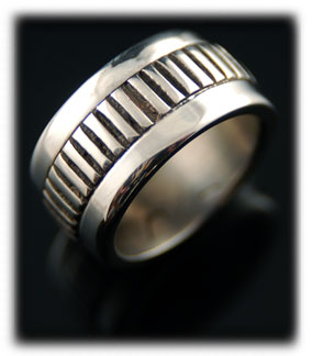 Designer Silver Wedding Ring Bands