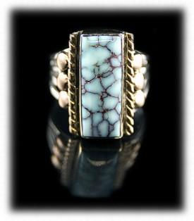 Dry Creek Spiderweb Turquoise Ring