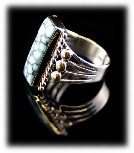 An Example of Dry Creek man's American Sterling Silver Turquoise Rings