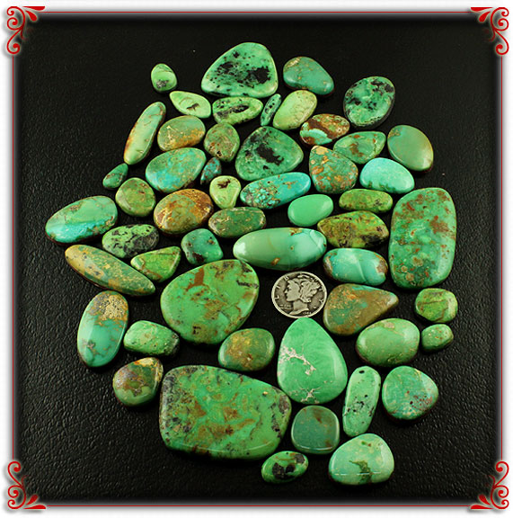 Emerald Valley Green Turquoise Cabochons