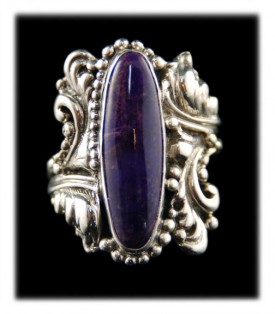 Fancy Victorian Style Sugilite Ring