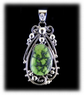 Lime Green Turquoise Pendant