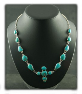 Navajo made Fox Turquoise Necklace