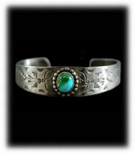Vintage Fred Harvey Turquoise Bracelet